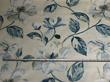 'Siricusa' Indigo, Prestigious Textiles Alessandria Cotton Floral Fabric, 2 mts