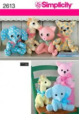 Simplicity Crafts Easy Sewing Pattern 2613 Cuddly Stuffed Animal Toys (Simpli...
