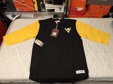 Pittsburgh Penguins Mitchell & Ness Henley Sz XL