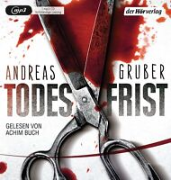 ACHIM BUCH - ANDREAS GRUBER: TODESFRIST   2 MP3 CD NEW