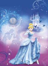 Blue Wallpaper for children's bedroom wall mural Cinderella Princess Disney