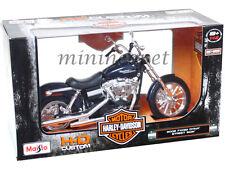 MAISTO 32325 HARLEY DAVIDSON 2006 FXDBI DYNA STREET BOB MOTORCYCLE 1/12 BLUE