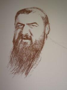 Henry BATAILLE (1872-1922) LITHO PORTRAIT TRISTAN BERNARD HUMOUR THEATRE JUDAICA