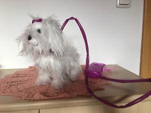 Animagic Fluffy Hund Spielzeug Plüsch pink weiß
