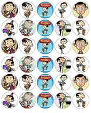 30x Mr Bean Cupcake Toppers Edible Wafer Paper Fairy Cake Toppers