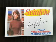 """SEINFELD"" WENDY MALIK ""THE KISS HELLO"" ""WENDY"" AUTOGRAPHED 3X5 INDEX CARD"