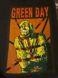 Green Day Vintage T Shirt Backstage Pass Straight Jacket XL Wild Oats