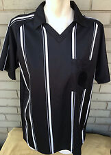 High Five Adult Medium Black Stripe Referee Official Jersey Soccer Rugby