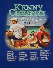 KENNY CHESNEY BROTHERS OF THE SUN 2012 TOUR COUNTRY MUSIC CONCERT BLUE SHIRT~L