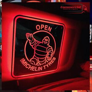 MICHELIN MAN WALL MIRROR / SIGN / TRUCK LED MIRROR / LIGHT BOARD 30X30CM