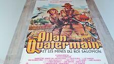 ALLAN QUATERMAIN et les mines du roi salomon !  affiche cinema mascii