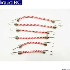 Hot Racing ACC468C82 1/10 Scale Bungee Cord Set (6) - Red White