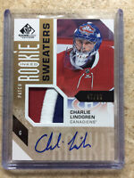 16-17 SP Game Used SPGU Inked Sweaters CHARLIE LINDGREN RC Rookie Auto Patch /99