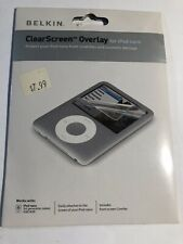New Belkin Clear Screen Transparent Screen Protector for iPod nano 3Rd Gen.