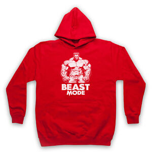 BEAST MODE BODYBUILDING SLOGAN GYM WORKOUT MUSCLE ADULTS KIDS HOODIE