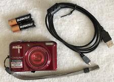 Nikon COOLPIX L28 20.1MP Digital Camera - Red~~Nice~~USB~~Batteries~~