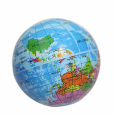 World Map Foam Earth Globe Atlas Geography Toy For Baby Stress Bouncy Ball Blue