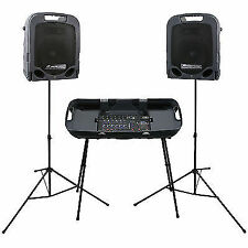 Peavey ESCORT 3000 MKII Complete PA Speaker System 300 W Inc Cables Stands Mic