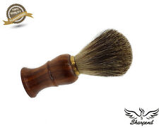 PURE BROWN TIP BADGER HAIR SHAVING BRUSH FOR MEN'S. SUITS ALL TYPE OF SKIN.