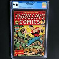 THRILLING COMICS #42 (Better 1944) 💥 CGC 9.0 - HIGHEST GRADED 💥 Doc Strange