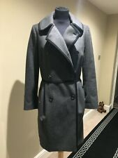 Fahri Charcoal Fitted Coat size UK8