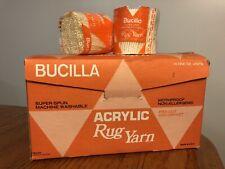 Vtg Lot 19 Nos Bucilla 100% Acrylic Latch Hook Rug Yarn Ivory Cream 152