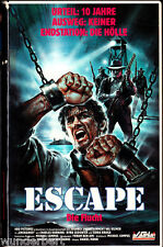 """VHS - """" ESCAPE - Die Flucht ( Unchained ) """" (1987)  Val Kilmer - Charles Durning"""