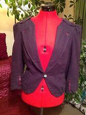 Stylish TOPSHOP purple linen mix jacket, 12 UK, 40, vgc, with stylish back shape