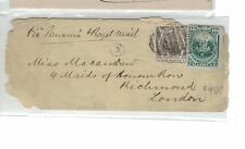 Peru 10c + gray QV6d combination cover, 1878 Richmond GB B/S (3bep)