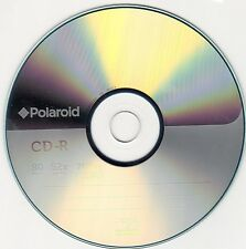 500X Polaroid CD-R vuoto DISCO (52x 80min 700 MB) FODERATO BIANCO AUDIO CD+G