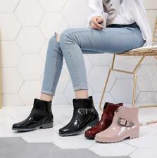 Women Waterproof Buckle Wellington Chelsea Garden Wellies Rain Ankle Boots Shoes