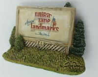 Lilliput Lane American Landmarks Sign Of The Times Hand Made Display Ray Day