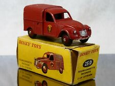 Dinky Toys F n° 25D Citroën 2CV Fourgonnette Incendie peu sorti en boite 1/43