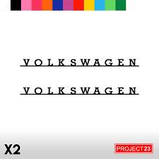 2 x OLD SCHOOL VOLKSWAGEN VW Dub Vag Euro Car/Van Decal Vinyl Sticker T4 T5 004