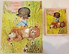 """1975 S. AUGUSTINY ORIGINAL PUZZLE 221 pc ~ """"FRIENDS"""" ~ boy & his dog ~ Complete"""