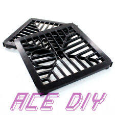 "Square Gully Grid | 6"" Black Plastic Drain Gutter Grate Manhole Cover Guard Lid"