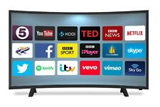 "40"" CURVED ANDROID SMART LED TV FREEVIEW HD USB 2 x HDMI HD 720p BRAND NEW"