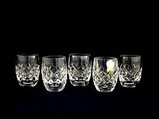 5 Waterford Crystal Alana / Comeragh Shot Glasses Mint!