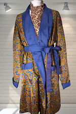 Original 1960s Vintage Gents Silky Tricel Smoking Jacket Dressing Gown Robe LGE