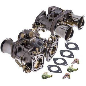 40 IDF twin carburetor for VW Beetle Bug Fiat Porsche w/ air horns best Castings