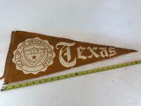 Vintage University of Texas Pennant VTG RARE HTF Old English