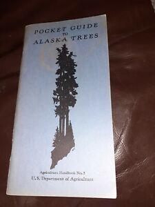 Pocket Guide to Alaska Trees vintage 1950/Know Akaska Mushroooms 2 book USA
