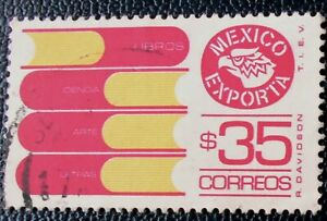 Mexico - Mexique - 1984 Defintive Mexican Exports 35 $ Books used (3) -