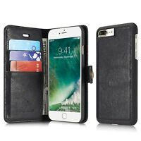 For iPhone 6s 7 8Plus Luxury Wallet Case Leather Flip Removable Protective Cover