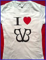 BLACK VEIL BRIDES , I LOVE BVB LADIES FITTED T-SHIRT.