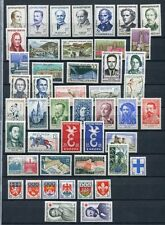FRANCE 1958 MNH COMPLETE YEAR 47 Stamps Mi cat EURO 86