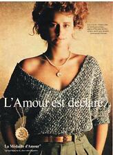 PUBLICITE ADVERTISING    1979   LA MEDAILLE D'AMOUR  BIJOUX