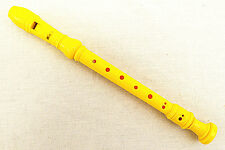 New Yellow Soprano Recorder-Baroque Fingering+Fingering Chart+Cleaning Rod
