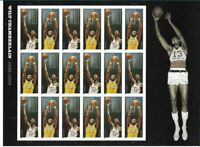 Wilt Chamberlain Sheet of 18 Forever Stamps Scott 4950-51