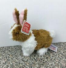 """Gund Telus Plush Brown & White Bunny Rabbit Promo 5"""" Tall  45696"""